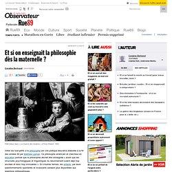 Article sur la philo pour enfants de Coraline Bertrand, journaliste pour rue 89
