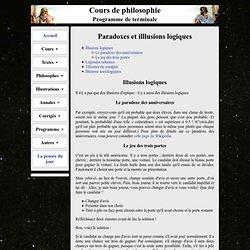 Paradoxes et illusions logiques