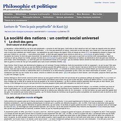 """Lecture de """"Vers la paix perpétuelle"""" de Kant (3)"""