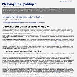 """Lecture de """"Vers la paix perpétuelle"""" de Kant (2)"""