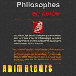 Philosophie enfants : philosophes en herbe