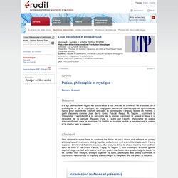 Laval théologique et philosophique v61 n3 2005, p.553-581