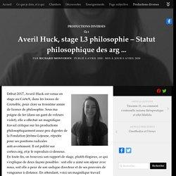 Averil Huck, stage L3 philosophie - Statut philosophique des arguments anti-avortement de la Fondation Jérôme-Lejeune et leur critique -