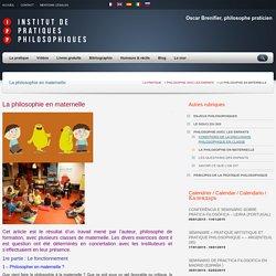 La philosophie en maternelle – Institut de pratiques philosophiques