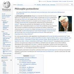Philosophie postmoderne