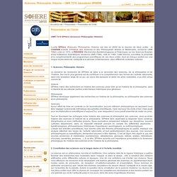 Sciences, Philosophie, Histoire – UMR 7219, laboratoire SPHERE - Présentation de l'Unité