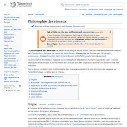 Philosophie des réseaux