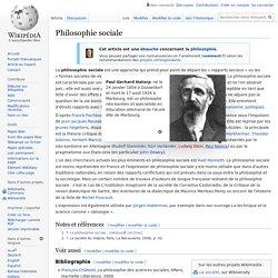 Philosophie sociale