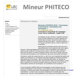 Séminaires et ateliers - Mineur PHITECO (Philosophie, Technologie, Cognition)