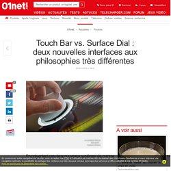 Touch Bar vs. Surface Dial : deux nouvelles interfaces aux philosophies très différentes