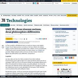 UMP, PS : deux réseaux sociaux, deux philosophies différentes -