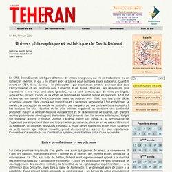 Univers philosophique et esthétique de Denis Diderot