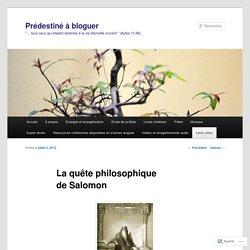 La quête philosophique de Salomon