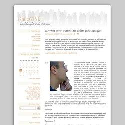 """La """"Philo Vive"""" : Utilité des débats philosophiques - PhiloVIVE !"""
