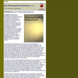 Das Philosophische Wörterbuch: Abbildtheorie