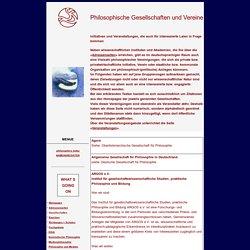 Philosophische Gesellschaften und Vereine