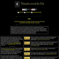 Philosophy around the Web