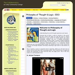 Philosophy of Thought & Logic -2013 - The Collaboratory