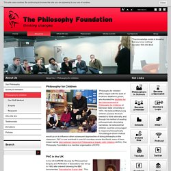 Philosophy for children, business and communities - Philosophy for and with children