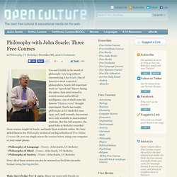 Philosophy with John Searle: Three Free Courses