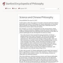 Science and Chinese Philosophy