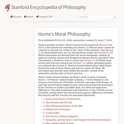 Hume's Moral Philosophy (Stanford Encyclopedia of Philosophy)