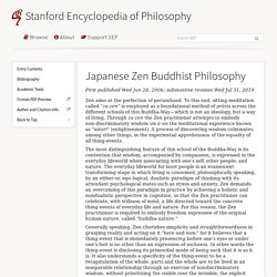 Japanese Zen Buddhist Philosophy