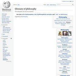 Glossary of philosophy