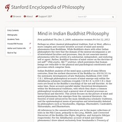 Mind in Indian Buddhist Philosophy