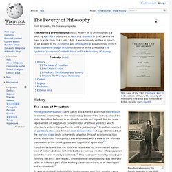 The Poverty of Philosophy, wikipedia