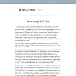 PHILOSOPHY—deontological ethics