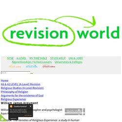 a2-level-level-revision, religious-studies, philosophy-religion, religious-experience, william-james-argument