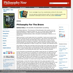 Philosophy For The Brave