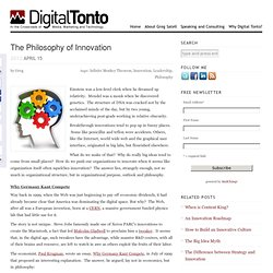 The Philosophy of Innovation