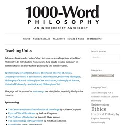 Teaching Units – 1000-Word Philosophy: An Introductory Anthology