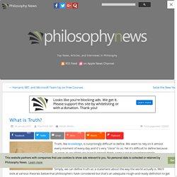 Philosophy News