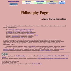 Philosophy Pages