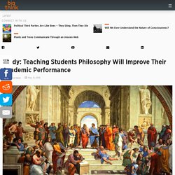 Teaching Students Philosophy Will Improve Their Academic Performance, Shows Study