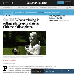 What's missing in college philosophy classes? Chinese philosophers.