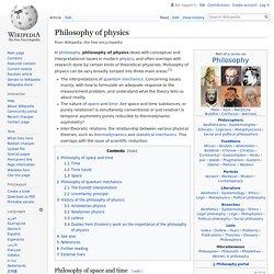 Philosophy of physics - Wikipedia