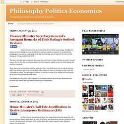 Philosophy Politics Economics