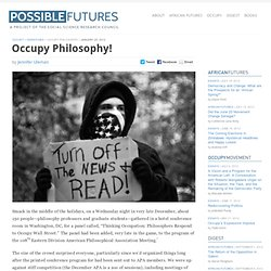 Occupy Philosophy!