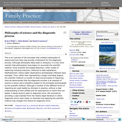 Philosophy of science and the diagnostic process