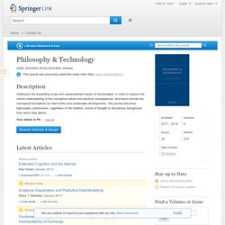 Philosophy & Technology - Springer