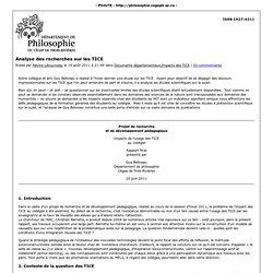 PhiloTR » Analyse des recherches sur les TICE » Impression
