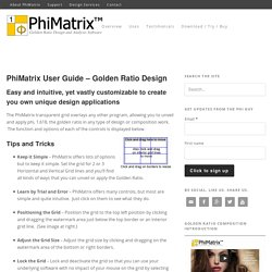PhiMatrix User Guide - Golden Ratio Design - PhiMatrix