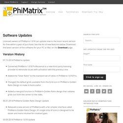 PhiMatrix Golden Ratio Software Updates