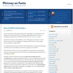 Phinney on Fonts