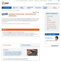 """Le """"phishing"""", faux mails d'EDF : une arnaque courante sur Internet"""