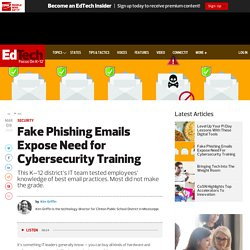 Fake Phishing Emails Expose Need for Cybersecurity Training